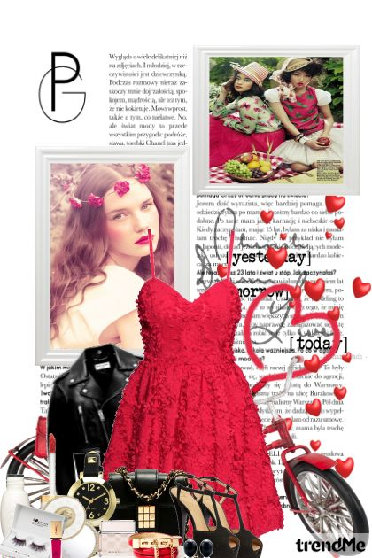 Red Dress Bike = Fun from collection Fashion by PETRA78