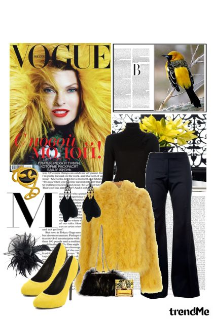 Yellow Fur, Feather and flower !! from collection Seasons by Erissa