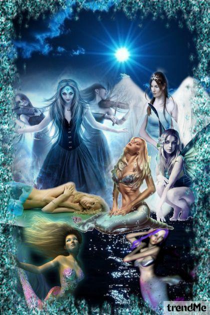 Fadas & Sereias from collection azul by lulipop