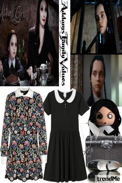 Halloween-Wednesday Addams from collection Let's B Creative by Betty Gaither-Harmon