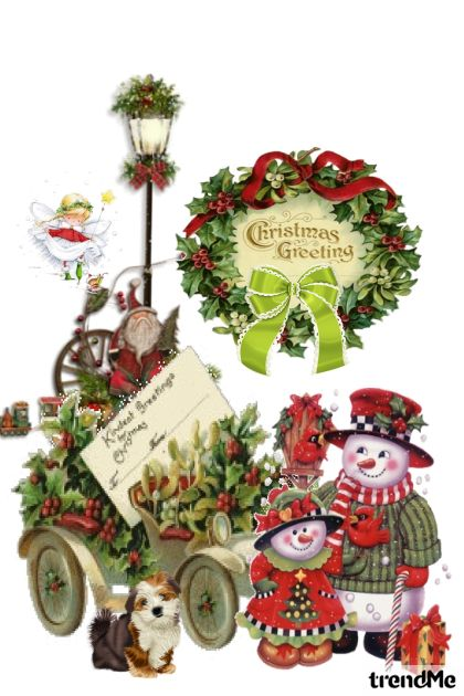 Christmas GreetingsTwelve Days of Christmas-Fifth  from collection Let's B Creative by Betty Gaither-Harmon