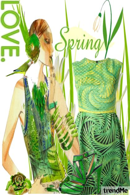 Spring Into Green from collection Let's B Creative by Betty Gaither-Harmon