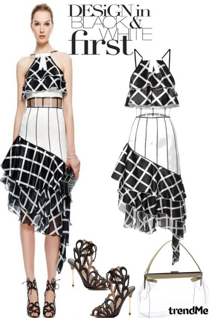 Design In Black and White aus der Kollektion Fashion2014 von Betty Gaither-Harmon
