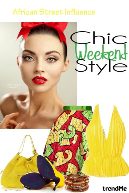 Chic Weekend dalla collezione African Street Influence di Betty Gaither-Harmon