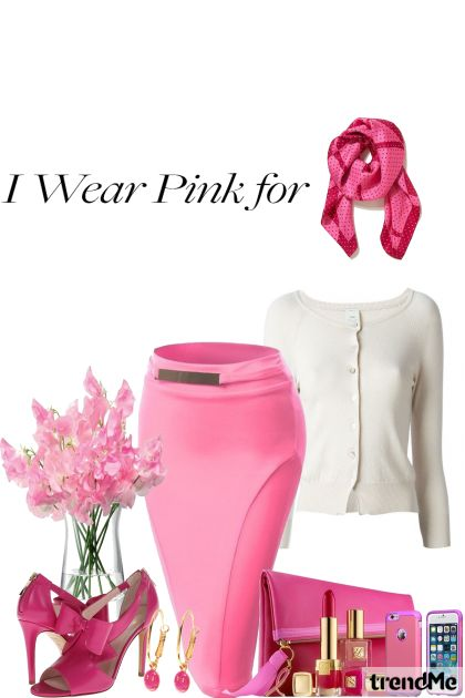I Wear Pink For Me-Breast Cancer Survivor from collection Fashion2014 by Betty Gaither-Harmon