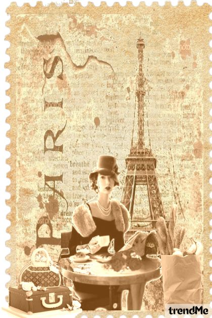 Vintage-Paris Vacation iz kolekcije Vintage Time od Betty Gaither-Harmon