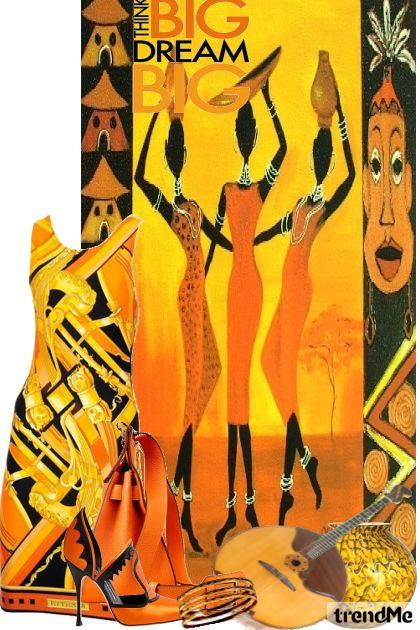 Black History Month#3 da colecção  Black Month Collection 2015-African Influence#1 de Betty Gaither-Harmon