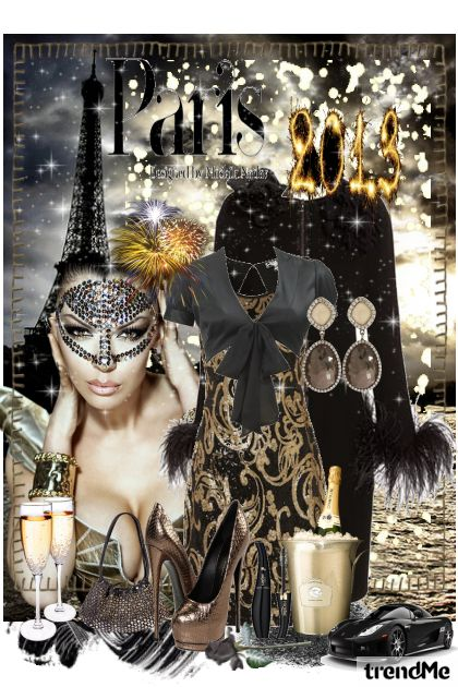 New Year in Paris from collection Night In the City by Ywette