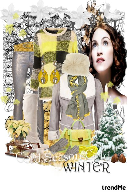 Yellow and Gray from collection Winter Idyll by Ywette