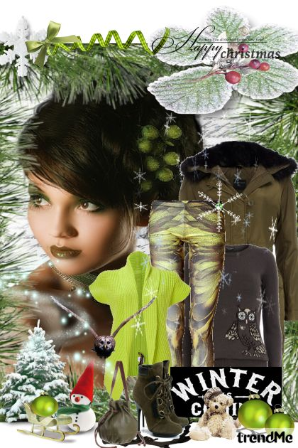 Green Winter from collection Winter Idyll by Ywette