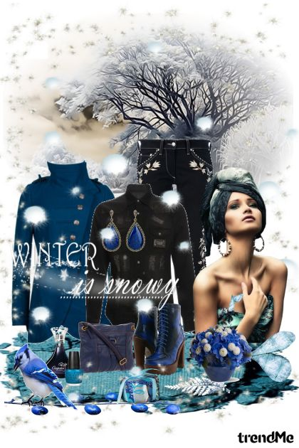Winter in Blue from collection Winter Idyll by Ywette
