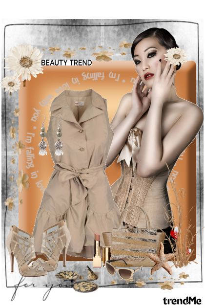 Beige Summer from collection Summer Mood by Ywette