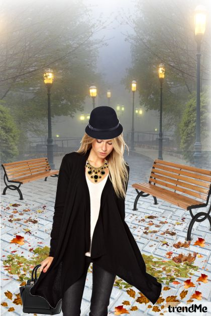A Girl In Autumn Evening aus der Kollektion Let's Be Creative! von Mirna M