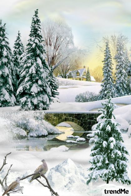 Snowy Landscape from collection I Love Nature by Mirna M