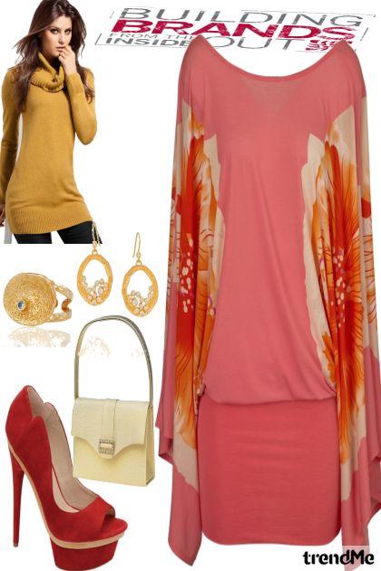 combinação de moda -  vestido