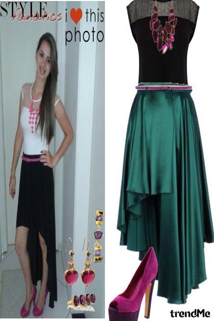 combinação de moda - saia mulet e blusa