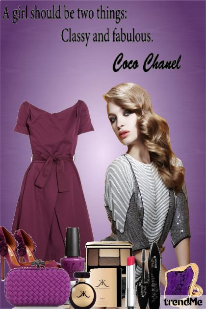 Purple Girl,Style,Classic and more Faboulous♥ from collection Coco Chanel by Lorena ♥