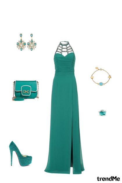 Elegantna zelena haljina