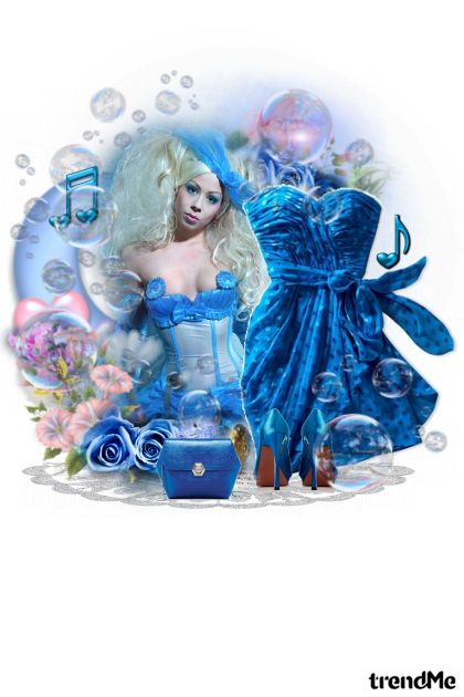 Blue bubbles from collection  by sanja blažević