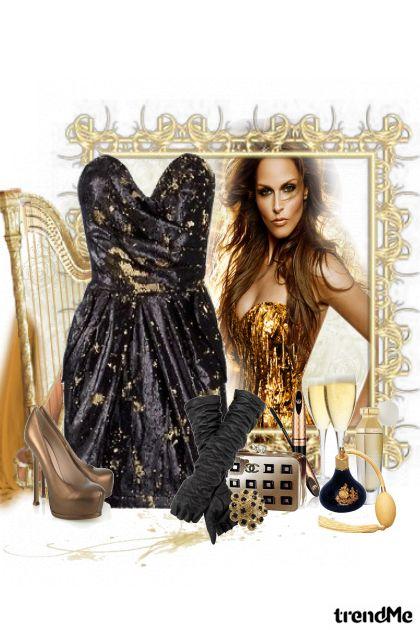 """""""zlatno doba"""" iz kolekcije mala crna od Marina"""