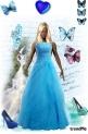 plava   djevojka