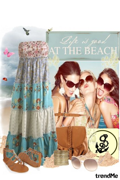 Life is good AT THE BEACH from collection Moka by Morena Podrug-Pavić