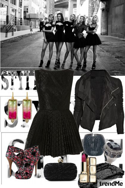 Black with style