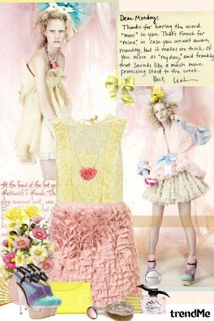 Dear Monday, ... from collection Pastel dreams... by Lady Di ♕