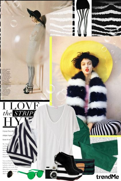 Hype for stripe! from collection Street style looks! by Lady Di ♕