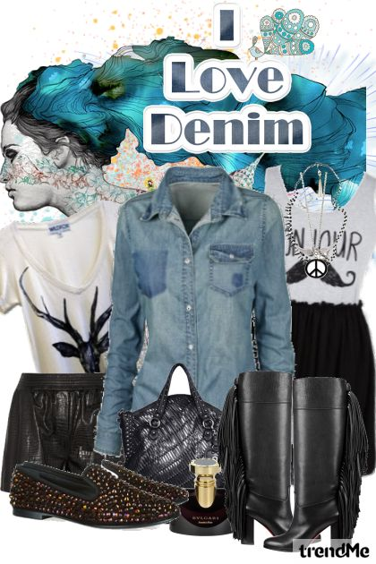 denim shirt. from collection Dusty Spring     by Nikolina Dzo
