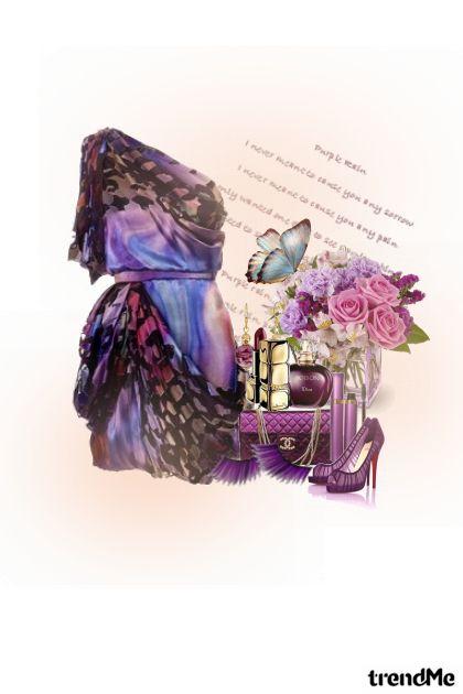 Purple Rain from collection Proljeće/Ljeto 2011 by Danijela ♥´´¯`•.¸¸.Ƹ̴Ӂ̴Ʒ