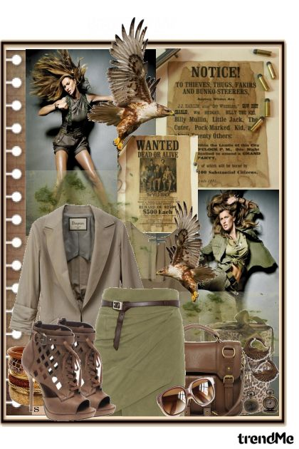 MIlitary style...wanted!!! from collection Something special by Lucija Matkovi