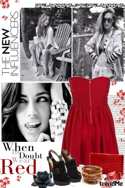 When in doubt, wear RED.. from collection Life.. by petra pavlic