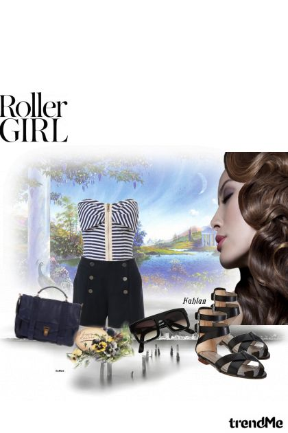 roller girl from collection arer you gonna be my girl  by Libor Samek