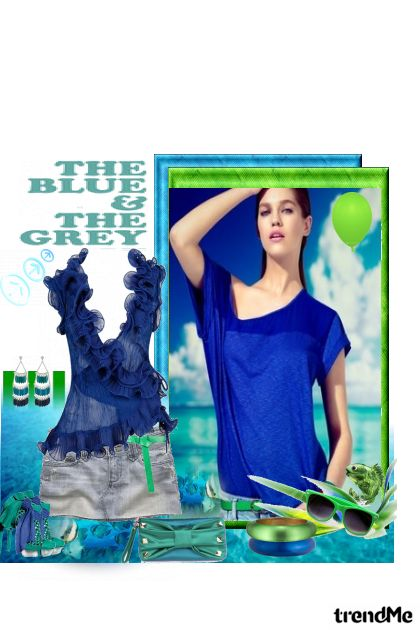 The Blue and the Grey! from collection LJETO 2011. by Monika