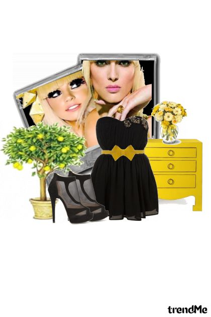 Yellow And Black from collection Colourful by Eva11