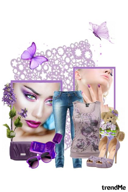 Feel The Purple from collection Colourful by Eva11