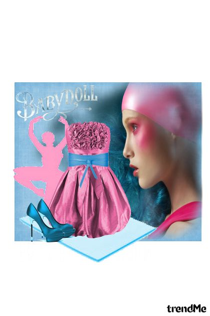 pink and blue from collection Proljeće/Ljeto 2011 by eni marijacic