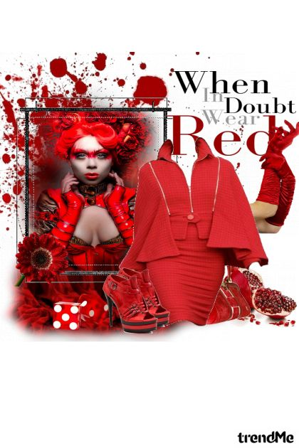 red, red and red :D from collection Proljeće/Ljeto 2011 by eni marijacic