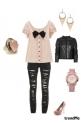 pink black glamour