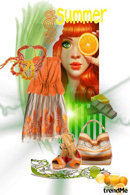 orange summer from collection Proljeće/Ljeto 2011 by salvore
