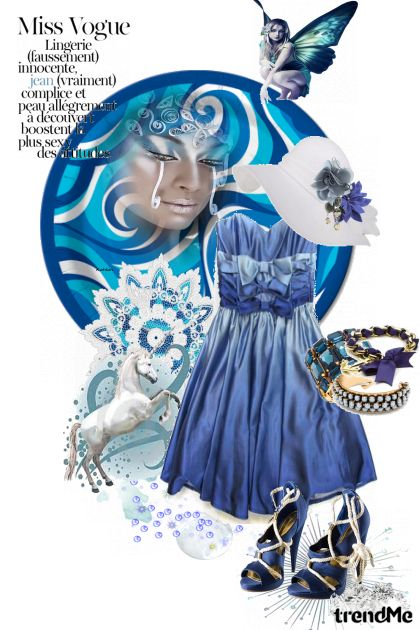 Blue Miss Vogue from collection Proljeće/Ljeto 2011 by salvore