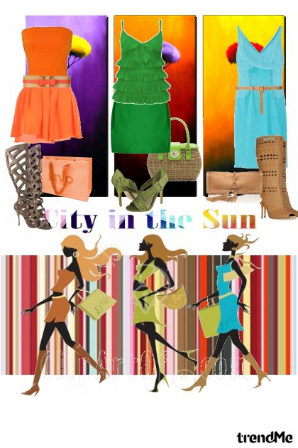 City in the sun...I am in shoping コレクション: Proljeće/Ljeto 2011 by salvore