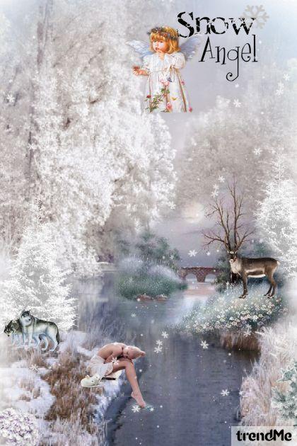 ...jedna djevojka u zimskoj noći kraj potoka...