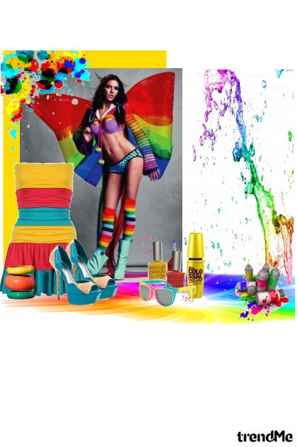 The fun whit collors ! from collection BŁack AngeŁ by Marinela Ravlić