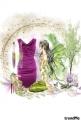 ljubičasta haljina...
