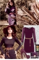 Selena Gomez wears purple 