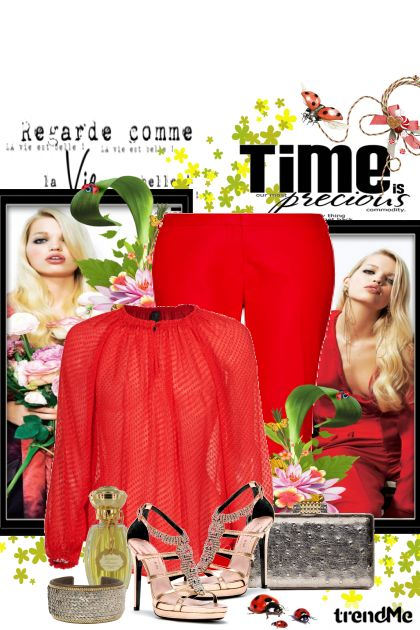 Woman in red from collection Elegantno by Hena
