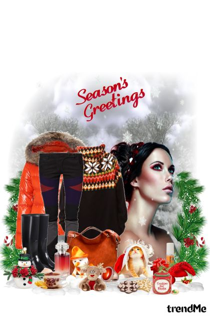 Season's Greetings from collection Winter fashion by maca1974