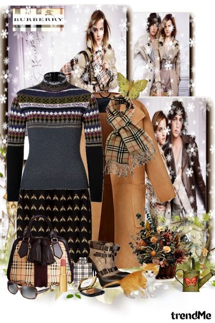 Burberry winter style from collection Winter fashion by maca1974